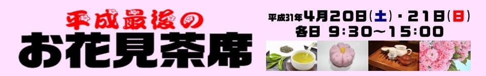 平成最後のお花見茶席
