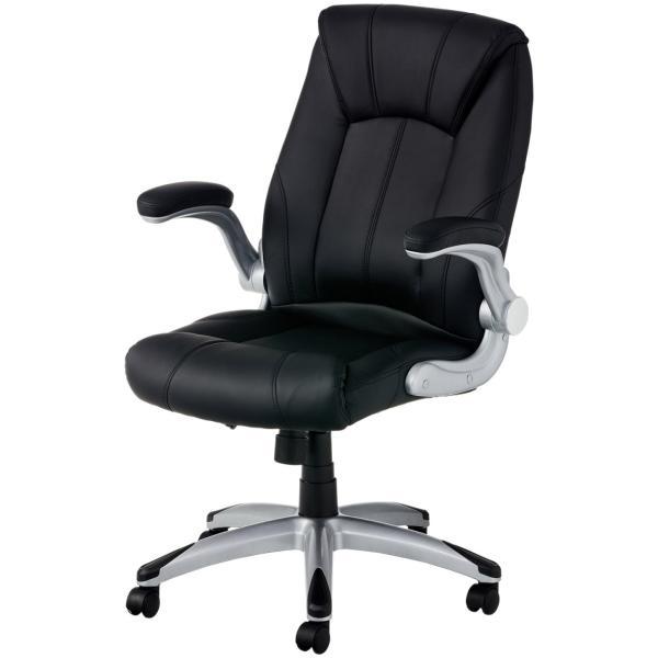 法人様限定 社長椅子 事務椅子 オフィスチェア レザー 革張り 肘付き 可動肘 キャスター付き レクアス|officecom|21
