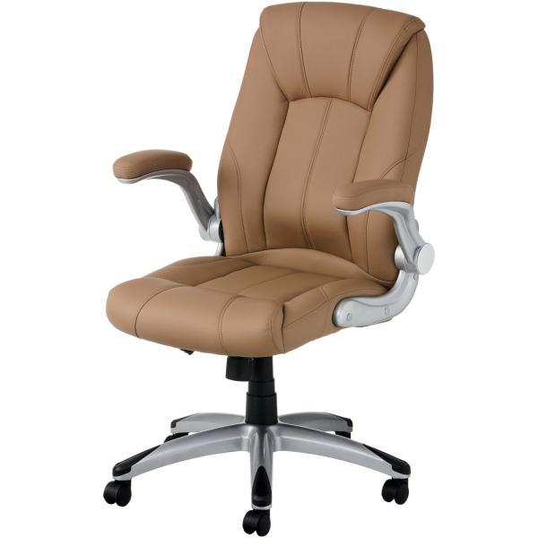 法人様限定 社長椅子 事務椅子 オフィスチェア レザー 革張り 肘付き 可動肘 キャスター付き レクアス|officecom|23