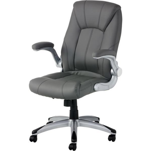 法人様限定 社長椅子 事務椅子 オフィスチェア レザー 革張り 肘付き 可動肘 キャスター付き レクアス|officecom|22
