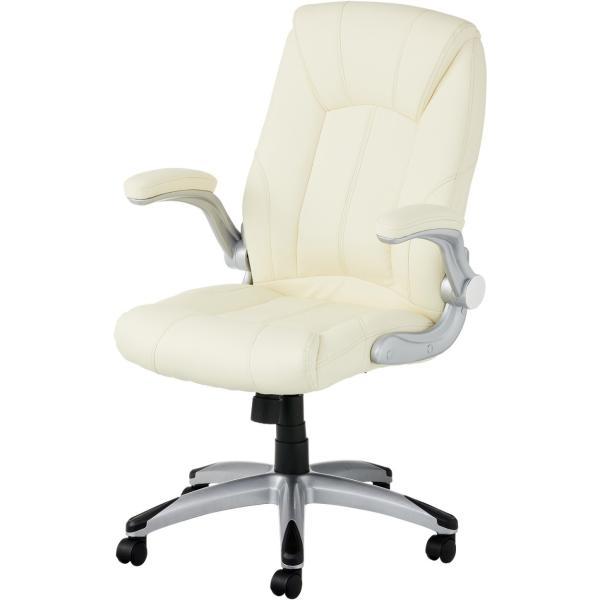 法人様限定 社長椅子 事務椅子 オフィスチェア レザー 革張り 肘付き 可動肘 キャスター付き レクアス|officecom|24