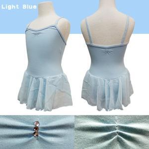 バレエ レオタード 子供用 スカート付 ラインストーン キャミ型 バレエ用品(ゆうパケット送料無料選択可)|ohana|13