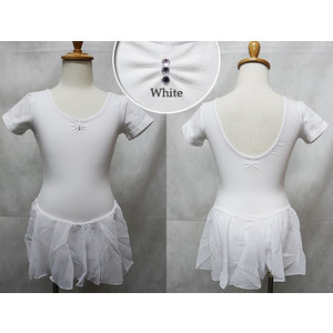 (B級品)(訳有り)(返品不可)バレエ レオタード 子供用 スカート付 ラインストーン 半袖 バレエ用品(ゆうパケット送料無料選択可)|ohana|14