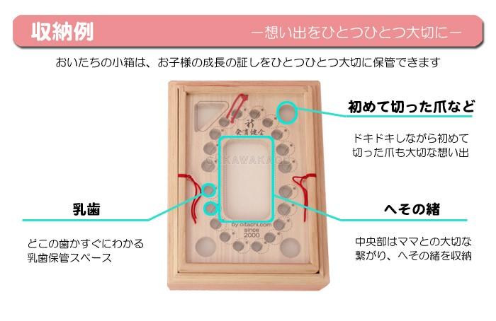 おいたちの小箱 A6版 内箱ロング:エチュード へその緒ケース 雫付き