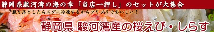 当店一押しのセットが大集合、静岡県駿河湾産の桜えび・しらす