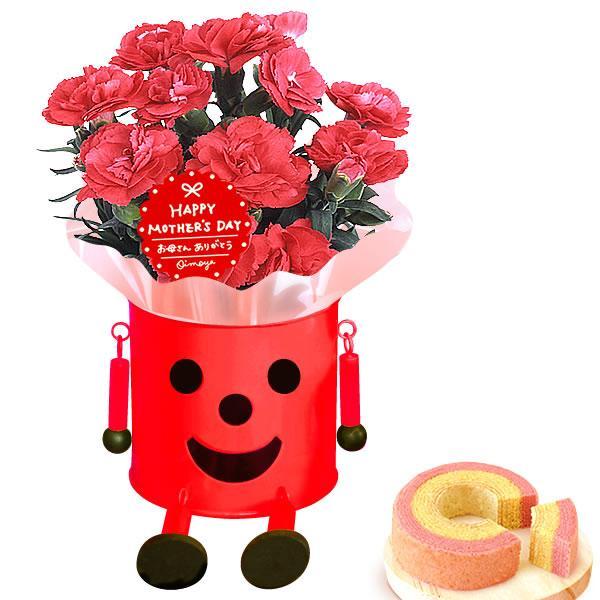 母の日 ギフト 花 母の日 カーネーション プレゼント 花とスイーツ 2020 ギフトランキング 鉢植え お菓子|oimoya|18