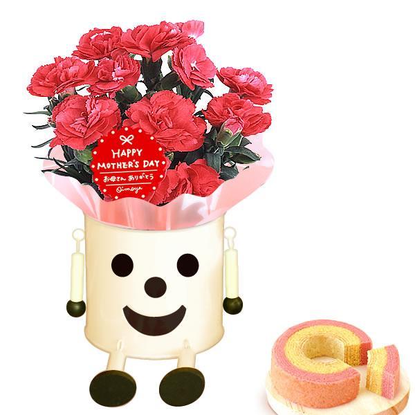 母の日 ギフト 花 母の日 カーネーション プレゼント 花とスイーツ 2020 ギフトランキング 鉢植え お菓子|oimoya|17