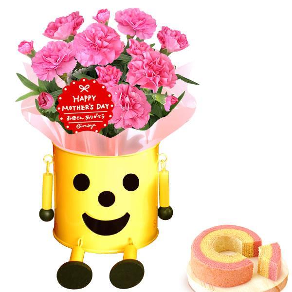 母の日 ギフト 花 母の日 カーネーション プレゼント 花とスイーツ 2020 ギフトランキング 鉢植え お菓子|oimoya|19
