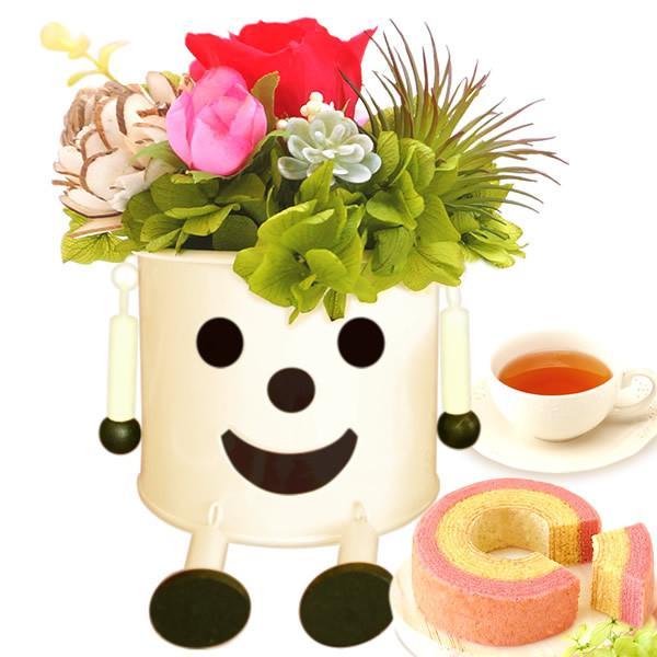 誕生日 プレゼント 内祝い お祝い 結婚祝い プリザーブドフラワー バラ ギフト 和菓子 お菓子 花とスイーツ 女性|oimoya|25