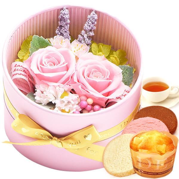 誕生日 プレゼント 内祝い お祝い 結婚祝い プリザーブドフラワー バラ ギフト 和菓子 お菓子 花とスイーツ 女性|oimoya|18