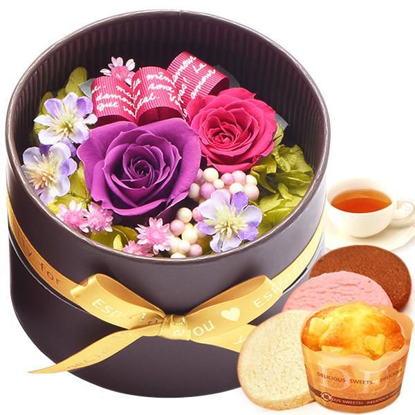 誕生日 プレゼント 内祝い お祝い 結婚祝い プリザーブドフラワー バラ ギフト 和菓子 お菓子 花とスイーツ 女性|oimoya|19
