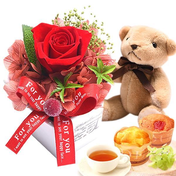 お歳暮 御歳暮 お菓子 誕生日 プレゼント 花 プリザーブドフラワー お祝い ギフト|oimoya|25