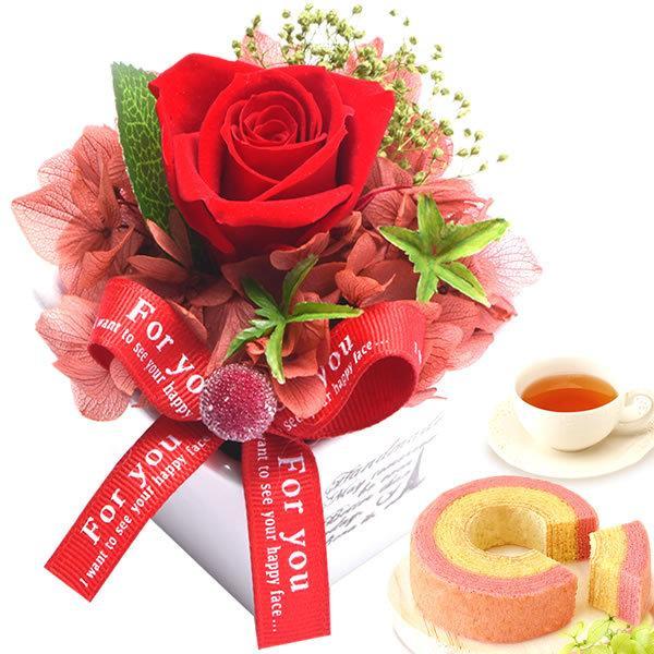 お菓子 誕生日 お祝い プレゼント ギフト 花 プリザーブドフラワー|oimoya|22