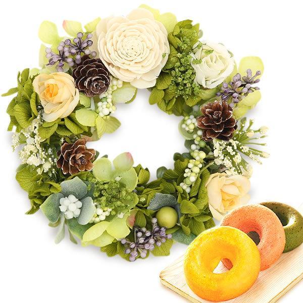 誕生日 プレゼント 内祝い お祝い 結婚祝い プリザーブドフラワー バラ ギフト 和菓子 お菓子 花とスイーツ 女性|oimoya|23