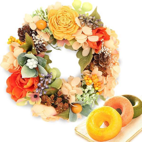 誕生日 プレゼント 内祝い お祝い 結婚祝い プリザーブドフラワー バラ ギフト 和菓子 お菓子 花とスイーツ 女性|oimoya|22