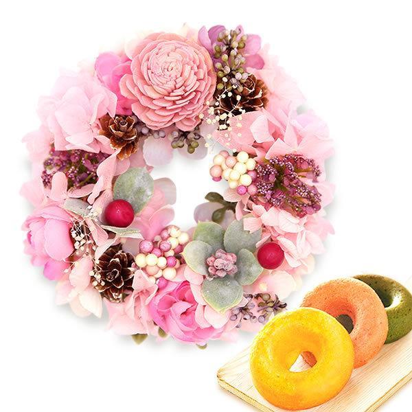 誕生日 プレゼント 内祝い お祝い 結婚祝い プリザーブドフラワー バラ ギフト 和菓子 お菓子 花とスイーツ 女性|oimoya|20