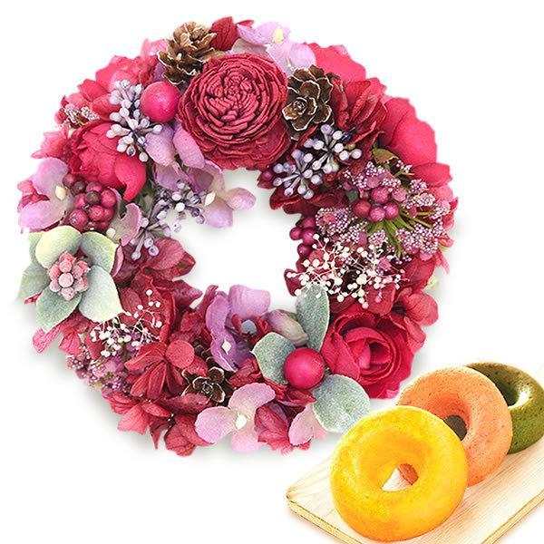 誕生日 プレゼント 内祝い お祝い 結婚祝い プリザーブドフラワー バラ ギフト 和菓子 お菓子 花とスイーツ 女性|oimoya|21