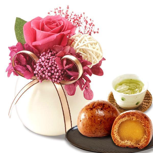 敬老の日 プレゼント ギフト 花 敬老の日プレゼント 花とスイーツ 2020 ギフトランキング ギフト プリザーブドフラワー 和菓子 お菓子 施設|oimoya|20