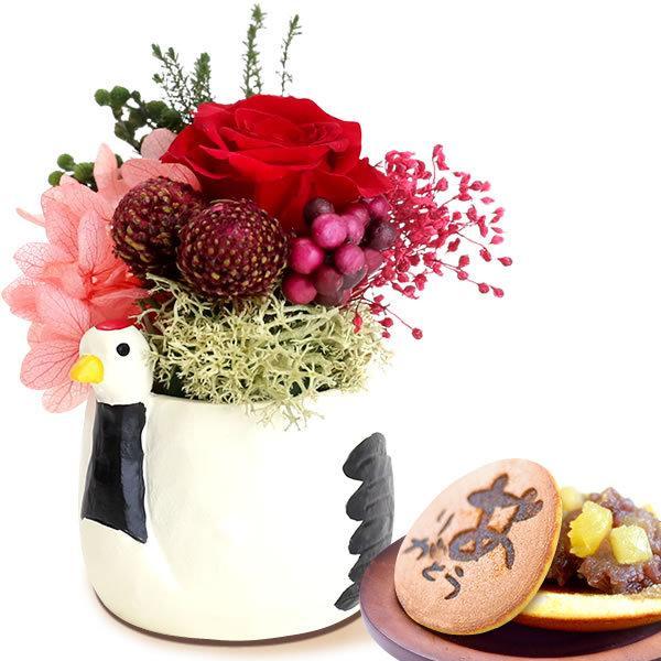 誕生日プレゼント お祝い 2021 お菓子 孫 和菓子 セット ギフト 花 花とスイーツ プリザーブドフラワー スイーツ 60代 70代 80代|oimoya|23