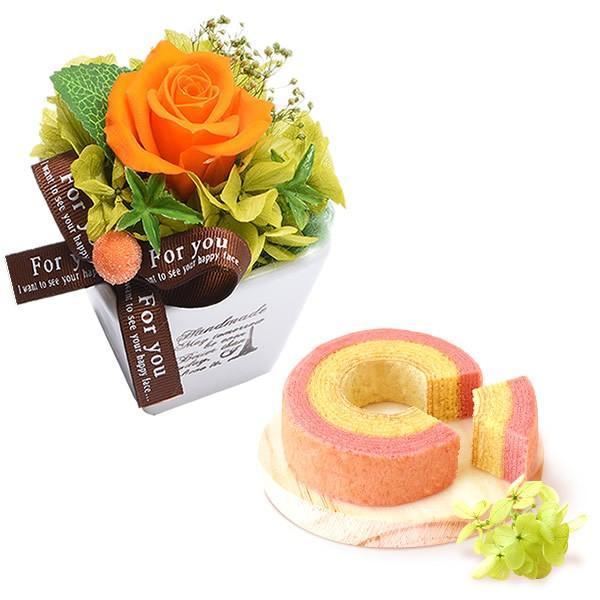 誕生日 プレゼント お祝い ギフト 花 プリザーブドフラワー 和菓子 洋菓子 花とスイーツ ギフトランキング お菓子 oimoya 19