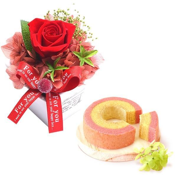 誕生日 プレゼント お祝い ギフト 花 プリザーブドフラワー 和菓子 洋菓子 花とスイーツ ギフトランキング お菓子 oimoya 17