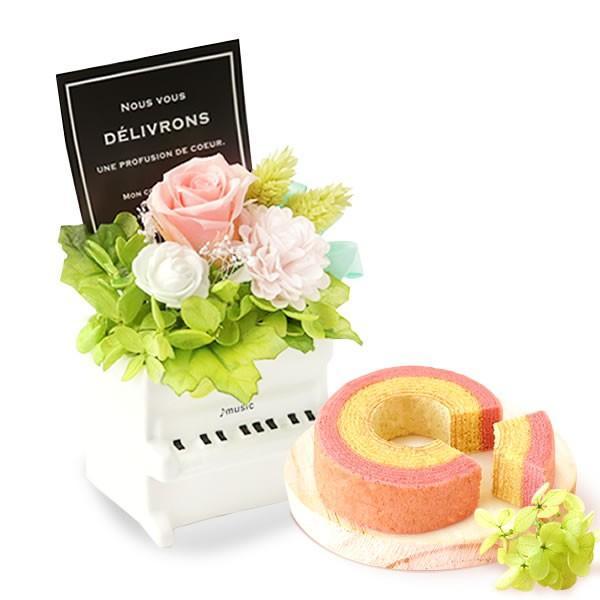 誕生日 プレゼント お祝い ギフト 花 プリザーブドフラワー 和菓子 洋菓子 花とスイーツ ギフトランキング お菓子 oimoya 26