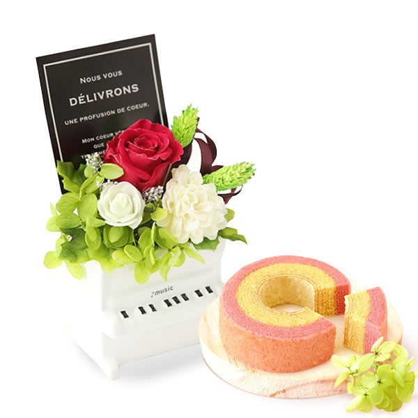 誕生日 プレゼント お祝い ギフト 花 プリザーブドフラワー 和菓子 洋菓子 花とスイーツ ギフトランキング お菓子 oimoya 25