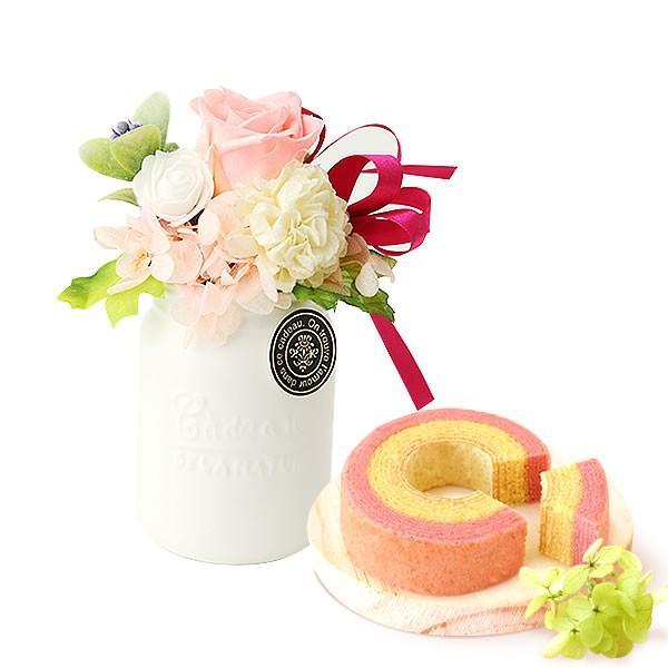 誕生日 プレゼント お祝い ギフト 花 プリザーブドフラワー 和菓子 洋菓子 花とスイーツ ギフトランキング お菓子 oimoya 28