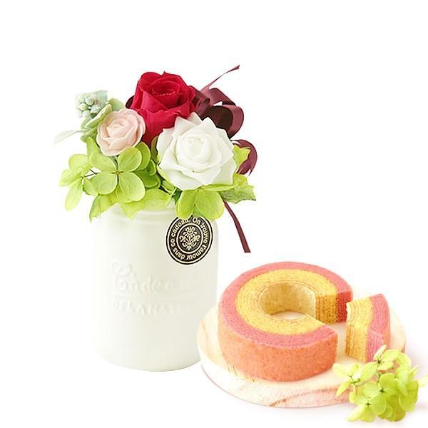 誕生日 プレゼント お祝い ギフト 花 プリザーブドフラワー 和菓子 洋菓子 花とスイーツ ギフトランキング お菓子 oimoya 27