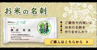 お米の名刺 ご贈答や内祝いにお米の名刺を作りませんか?