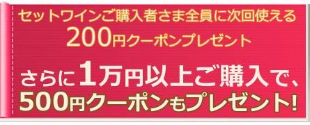 1万円以上ご購入で500円クーポン