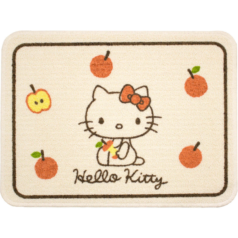 洗えるマット ハローキティ ころころりんご 約45cm×60cm  (サンリオ キティちゃん キティ かわいい フリーマット 日本製)  オカ|okapro|12