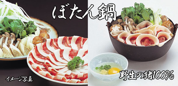 ぼたん鍋(野生の猪100%)