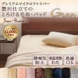 贅沢仕立てのとろける毛布・パッド