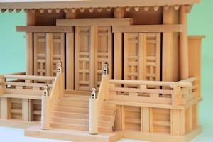 通し屋根神殿三社富士(小)