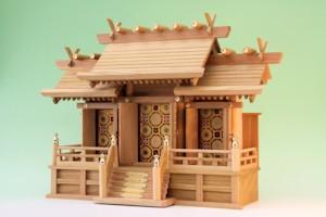 欅 神棚 屋根違い三社
