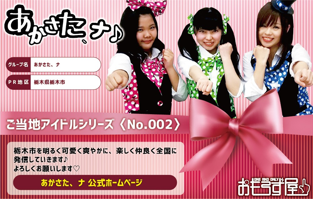 ご当地アイドルアイロンシート002あかさた、ナ栃木県栃木市