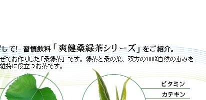 桑と緑茶のW効果で健康維持をめざしましょう。