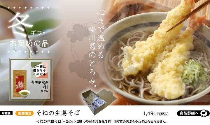 掛川製麺所曽根の生葛そば