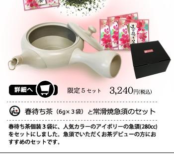 今年初火入れした深蒸し茶春待ち茶を6gずつの個別包装にしてセットにしたギフトのご紹介。お茶を飲むなら急須から。そんなビギナーさんにもおすすめです!