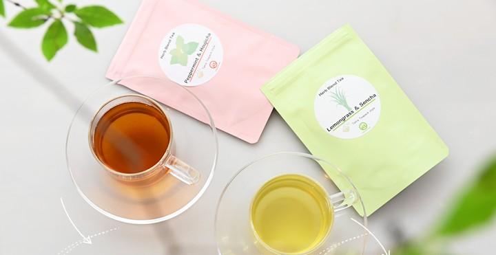 ハーブと国産茶のブレンドティー 大村園のリフレッシュティーシリーズ