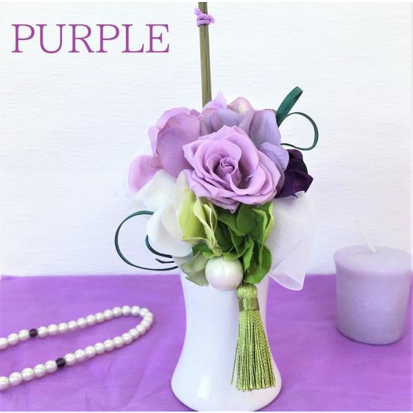 プリザーブドフラワー  仏花 お供え -竹筒- 全3色 お悔やみ ペットにも 仏壇 供花 贈り物|omusubiflowers|15