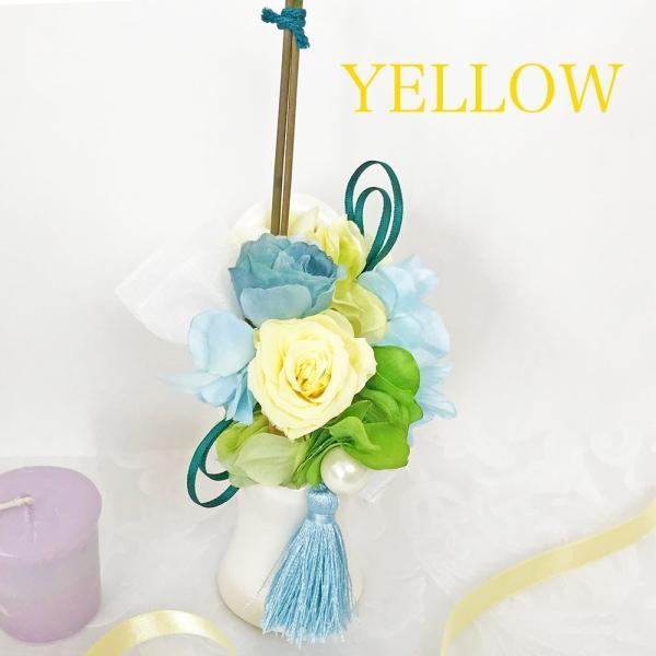 プリザーブドフラワー  仏花 お供え -竹筒- 全3色 お悔やみ ペットにも 仏壇 供花 贈り物|omusubiflowers|14