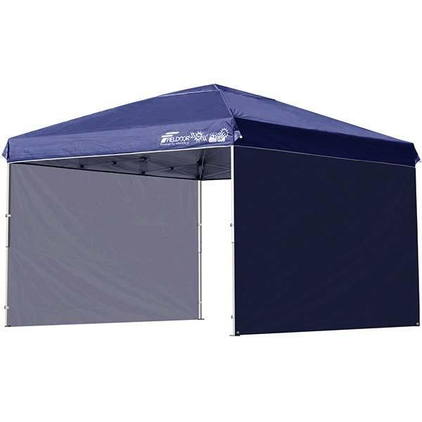 タープテント 3m ワンタッチ サイドシート2枚 おしゃれ 日よけ 簡単 タープ テント アウトドア バーベキュー キャンプ UVカット 防水 大型 FIELDOOR 送料無料|onedollar8|10