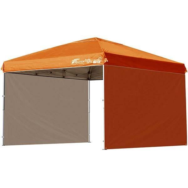 タープテント 3m ワンタッチ サイドシート2枚 おしゃれ 日よけ 簡単 タープ テント アウトドア バーベキュー キャンプ UVカット 防水 大型 FIELDOOR 送料無料|onedollar8|11