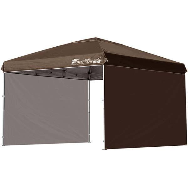 タープテント 3m ワンタッチ サイドシート2枚 おしゃれ 日よけ 簡単 タープ テント アウトドア バーベキュー キャンプ UVカット 防水 大型 FIELDOOR 送料無料|onedollar8|12