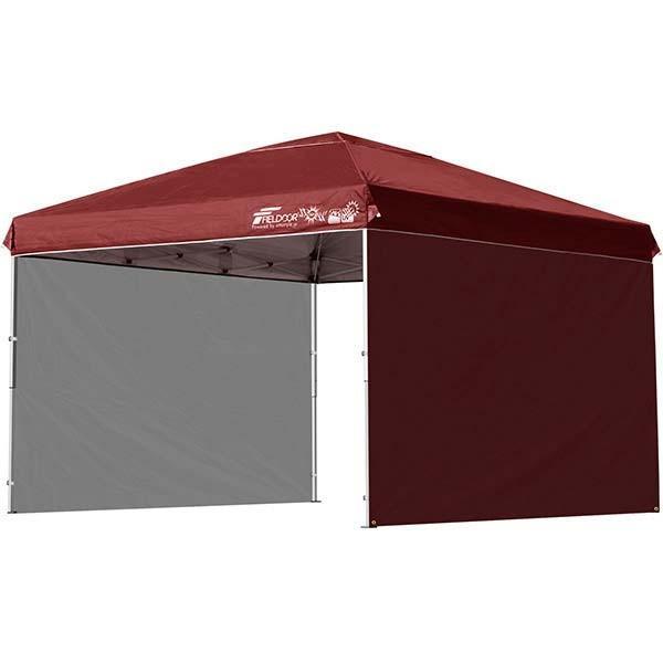 タープテント 3m ワンタッチ サイドシート2枚 おしゃれ 日よけ 簡単 タープ テント アウトドア バーベキュー キャンプ UVカット 防水 大型 FIELDOOR 送料無料|onedollar8|15