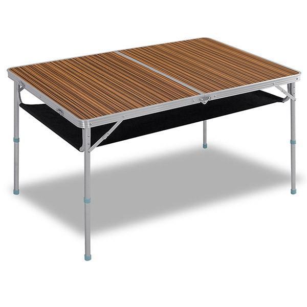 レジャーテーブル 折りたたみ 軽量 高さ調節 120X80X70cm FIELDOOR アウトドア キャンプ アルミ 折り畳み 運動会 送料無料|onedollar8|08