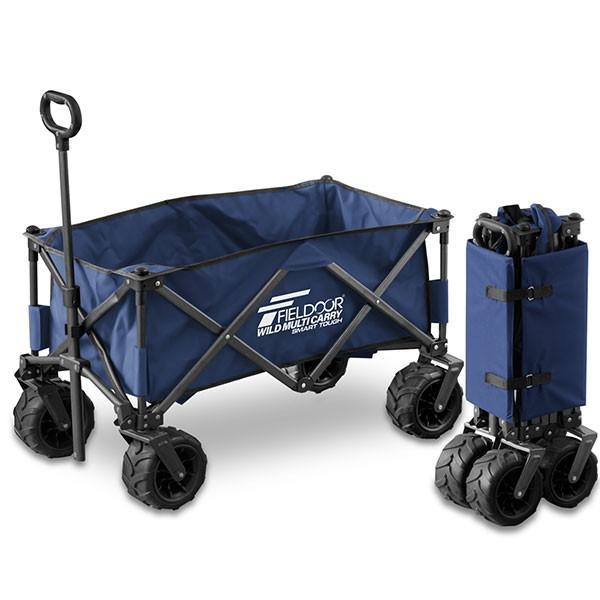 キャリーワゴン タイヤ大きい 大容量 126L 耐荷重150kg キャリーカート 折りたたみ 自立式 丈夫 アウトドア キャンプ 買い物 海 おしゃれ FIELDOOR 送料無料 onedollar8 08