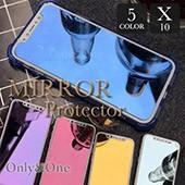 人気オリジナルiphone Xミラー保護フイルム